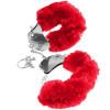 Меховые красные наручники Original Furry Cuffs изображение № 4