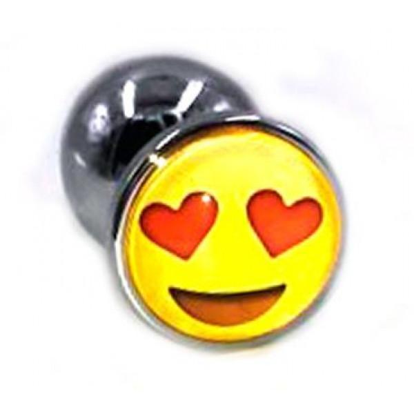 Отзывы о товаре Металлическая анальная пробка с влюбленным смайликом - 7 см.
