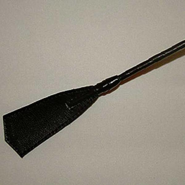 Короткий плетеный стек с кожаным наконечником-хлопушкой - 70 см.