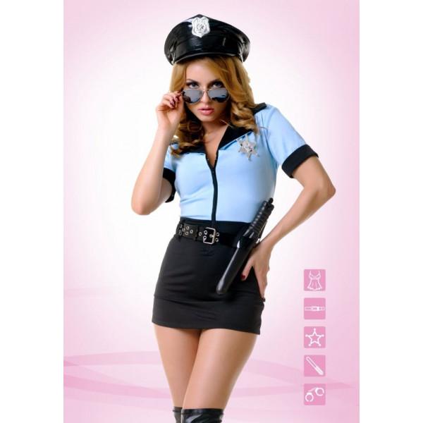 Эротичный костюм женщины-копа для ролевых игр