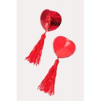 Beauty аксессуар - пэстисы в форме сердец с кисточками изображение № 6