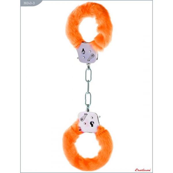 Отзывы о товаре Металлические наручники с оранжевым мехом
