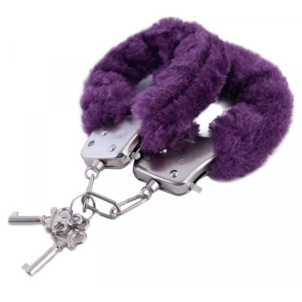 Эротические фиолетовые наручники БДСМ для ролевых игр