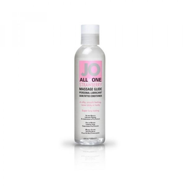 Массажный гель-масло ALL-IN-ONE Massage Oil клубничный