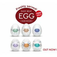 Эротический комплект из 6 мастурбаторов Tenga EGG Regular Strength с различным рельефом