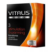 Презервативы VITALIS PREMIUM stimulation   warming с согревающим эффектом