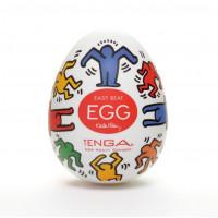 Секс-игрушка мастурбатор-яйцо Keith Haring EGG DANCE для использования на члене