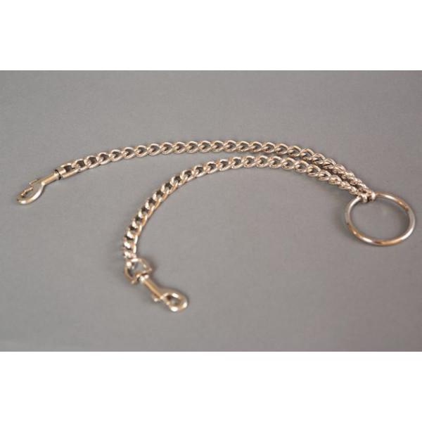 Отзывы о товаре Металлическая цепь с центральным кольцом и карабинами по обе стороны