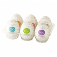 Эротический комплект из 6 мастурбаторов-яиц Tenga EGG Strong Sensations с различными рельефом