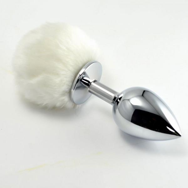 Отзывы о товаре Металлическая пробка с белым хвостом  Задорный Кролик  - 11 см.